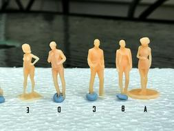 1:64 Scale Miniature People - Resin / unpainted - great for