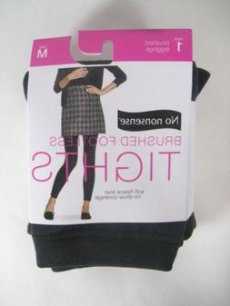 1 pair No Nonsense Brushed FOOTLESS TIGHTS Fleece Liner size
