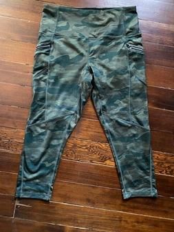 RBX Camo cropped tights with pockets M