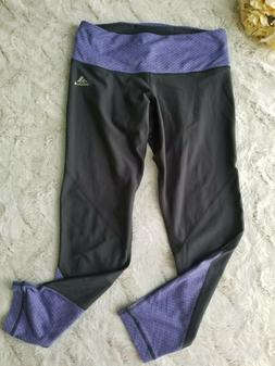 Adidas Climalite Mid-Rise 3/4 Tight Size Small Gray and Purp