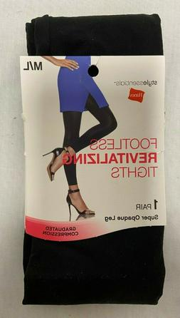 Hanes Footless OPAQUE Tights Black M/L