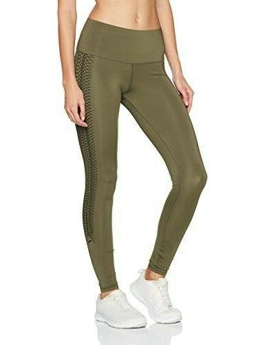 army green everyday train graphic tights sz