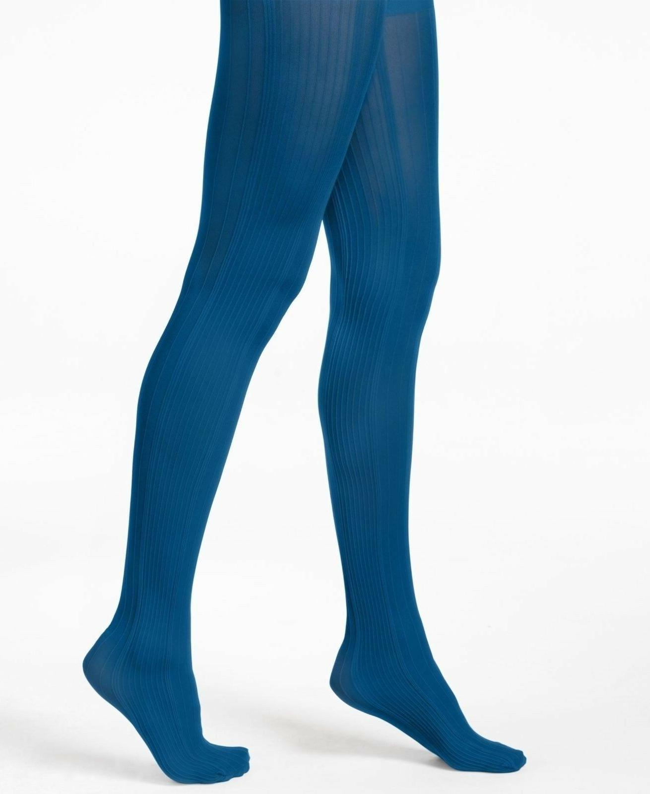 tights variegated control top catalina blue size