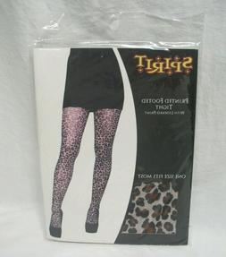 Leopard Print Footed Tight by Spirit - One Size Fits Most