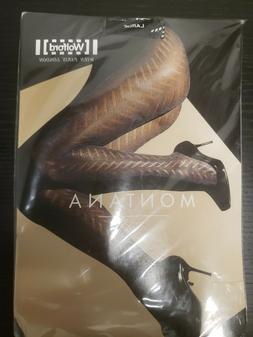 Wolford Montana 14318 Tights Black 9180 Size Large. Made in