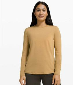 NWT Lululemon HOLD TIGHT LONG SLEEVE WOOL GOLD BLUFF SIZE 8