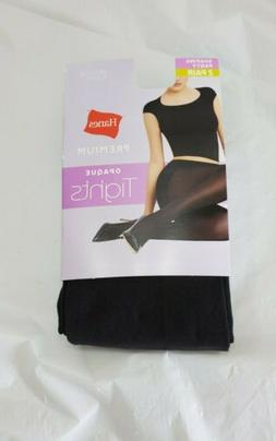 Hanes Premium Opaque Tights Shaping Panty Pantyhose Size Med