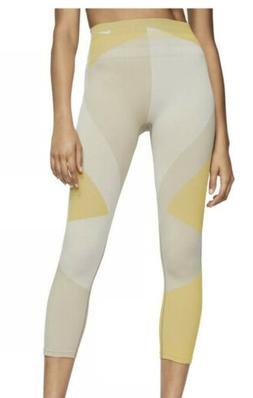 Nike Sculpt Lux tight fit leggings Yellow And Gray Small S N