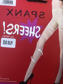 SPANX Sheers Black Sheer Shaping & Comlression Tights Size G