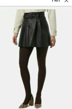 Hue Sweater Tights Brown SZ Medium Cozy Brushed Lined NWT