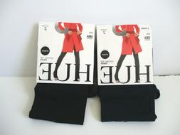 Hue Ultimate opaque control top tights 2 pair Size 2 Navy/Bl